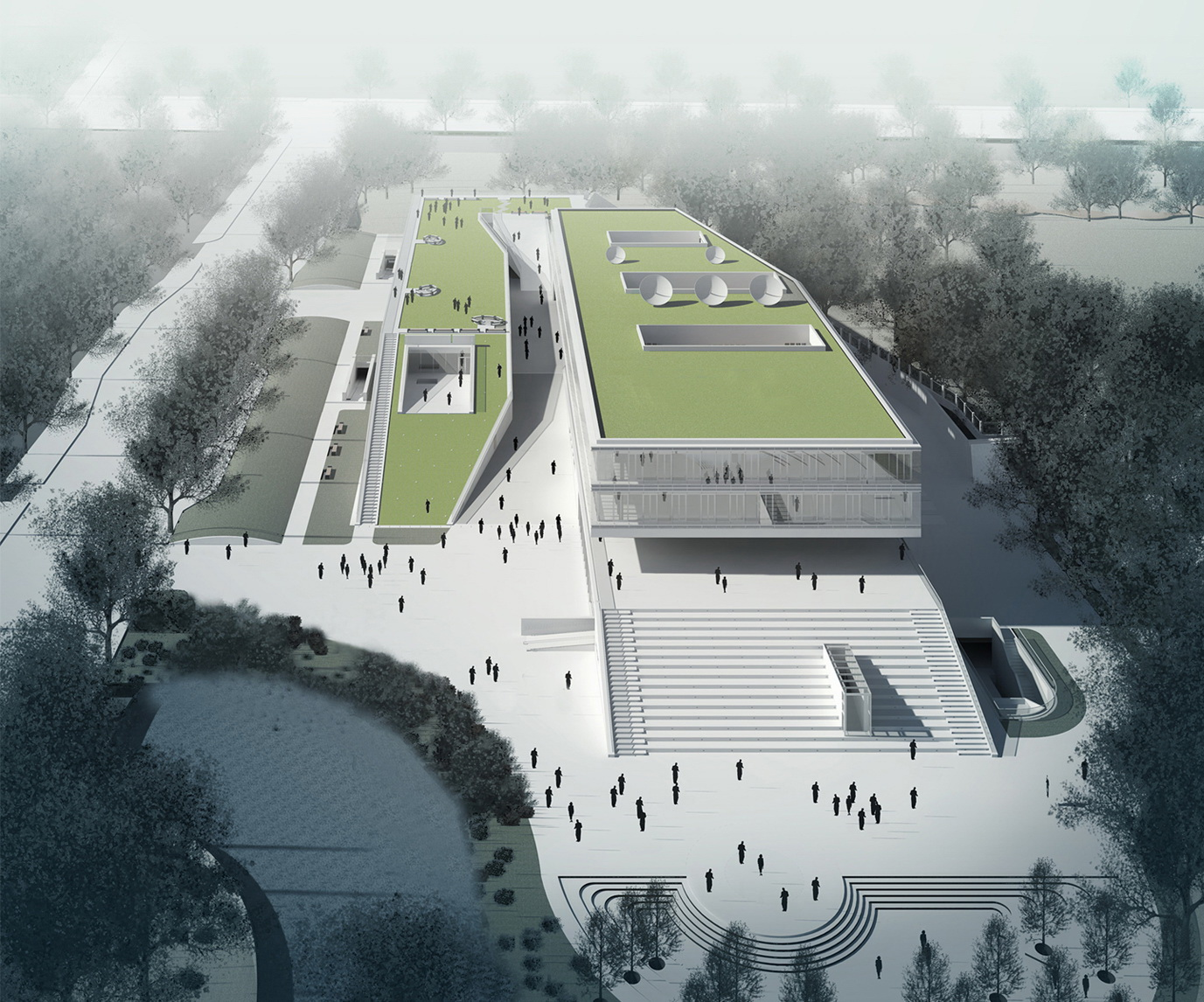 changxin radio and television broadcasting station by integrated